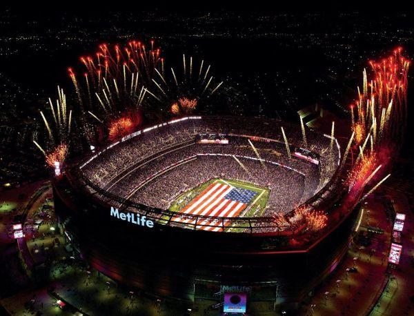 MetLife Stadium - vue nocturne