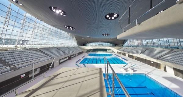 Centre Aquatique Olympique - Londres - vue intérieure