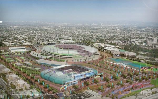 Projet de Parc Olympique pour les JO 2024 (Crédits - Los Angeles 2024 / SCCOG)