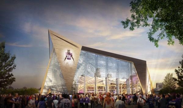 New Minneapolis Stadium - vue extérieure