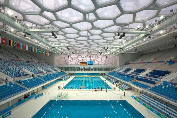 Pékin 2008 - Cube d'eau - vue intérieure