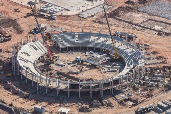 Rio 2016 - Centre olympique de tennis - chantier octobre 2014