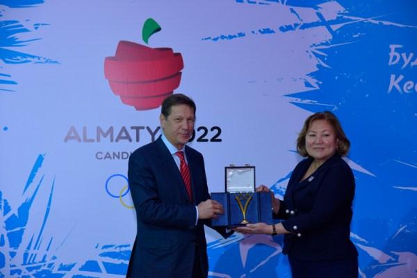 Almaty 2022 - Zhukov et vice-Maire
