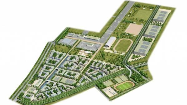Berlin Tegel - plan du Village Olympique