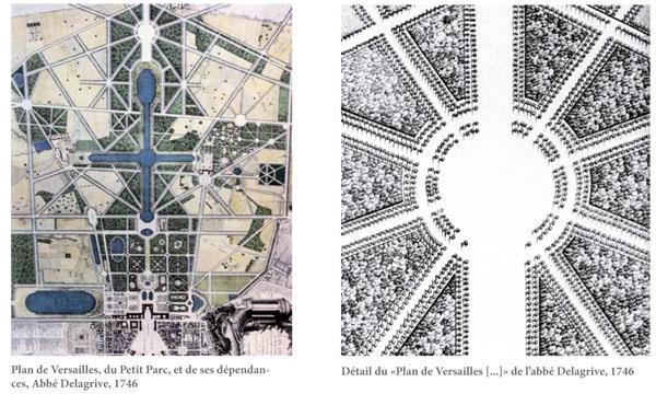 Parc du Château de Versailles - plan de l'étoile royale
