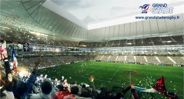 Grand Stade de rugby - vue des tribunes