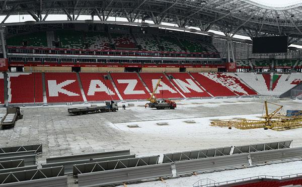 Kazan 2015 - travaux - mars 2015