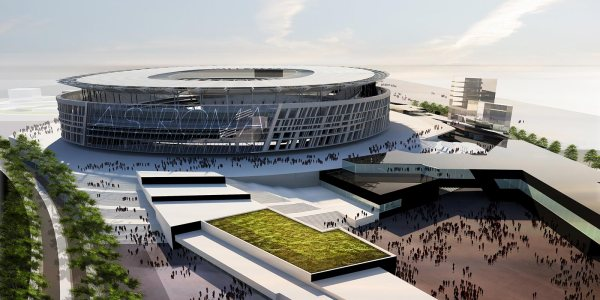 Visuel du futur Stade de l'AS Roma d'une capacité comprise entre 52 500 et 60 000 places (Crédits - AS Roma)