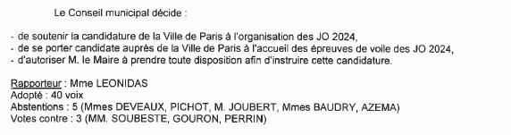 La Rochelle 2024 - délibération - 2