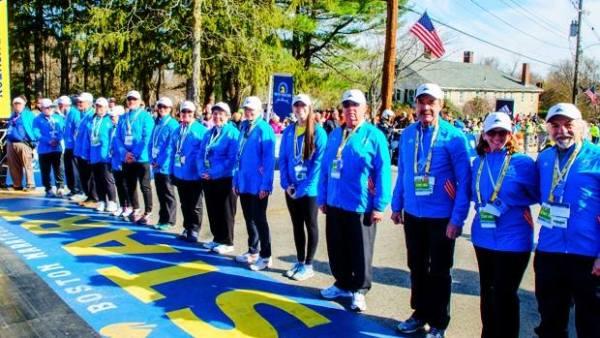 Marathon de Boston - bénévoles