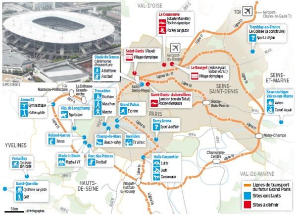 Paris - carte des sites