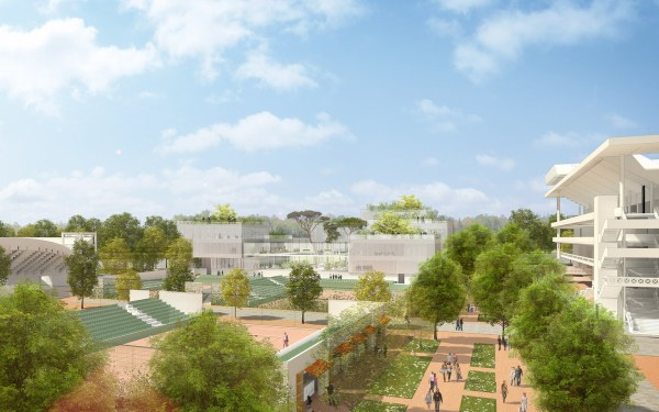 Nouveau Roland Garros - bâtiment de l'organisation du tournoi