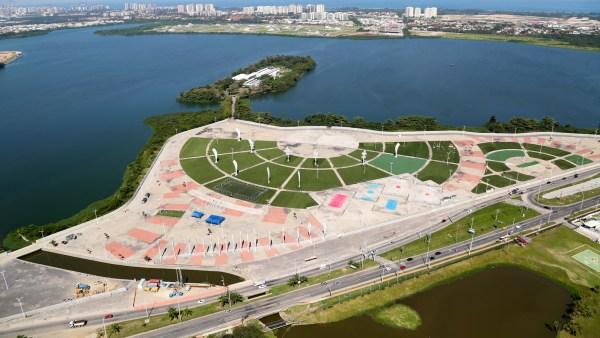 Vue de l'île de Pombeba qui accueillera le Musée Olympique et le siège du Comité Olympique du Brésil (Crédits - Cidade Olimpica)