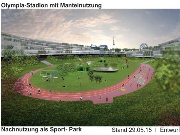 Vue du Stade Olympique de Hambourg après les JO 2024 (Crédits - Ville de Hambourg)