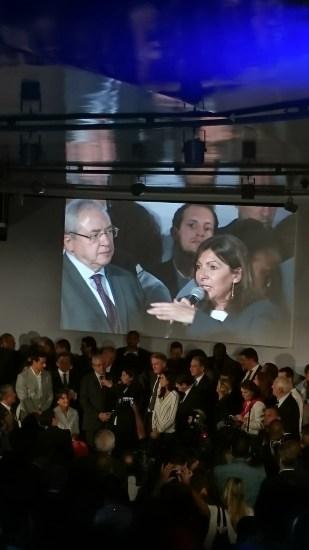 Jean-Paul Huchon, Renaud Lavillenie et Anne Hidalgo (Crédits - Sport & Société)