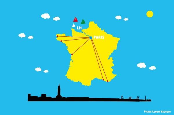 Le Havre est le port le plus proche de Paris, ce qui constitue un atout selon ses partisans (Crédits - Le Havre 2024)