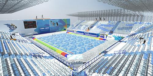 Visuel de la future Water-Polo Arena (Crédits - Kazan 2015)