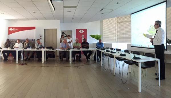 Le Maire de Pantin, Bertrand Kern, a présenté le projet de Village Olympique, en présence notamment d'Etienne Thobois, Directeur Général de l'Association Ambition Olympique et Paralympique Paris 2024 (Crédits - Bertrand Kern)