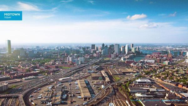 Vue actuelle de l'emplacement du Stade Olympique (Crédits - Boston 2024)