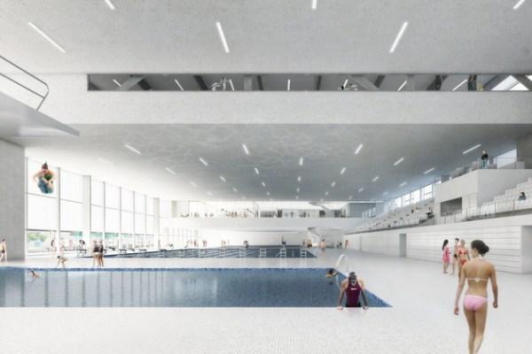 Visuel de la future piscine du Centre omnisports de Malley (Crédits - Lausanne 2020)