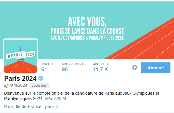 Page officielle sur Twitter (Crédits - Capture d'écran / Sport & Société)