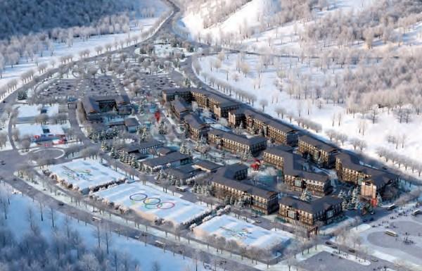 Visuel du Village de Zhangjiakou (Crédits - Pékin 2022)