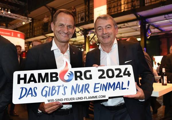 Alfons Hörmann, Président du DOSB et Wolfgang Niersbach, Président du DFB (Crédits - Hambourg 2024)