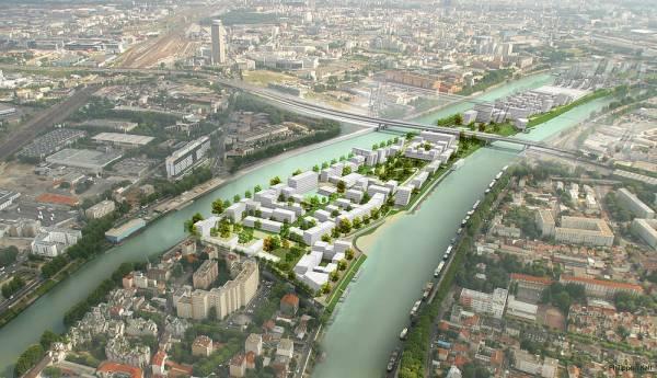 Le Village des Athlètes pourrait s'intégrer au projet d'écoquartier de l'Île-Saint-Louis (Crédits - Plaine Commune)