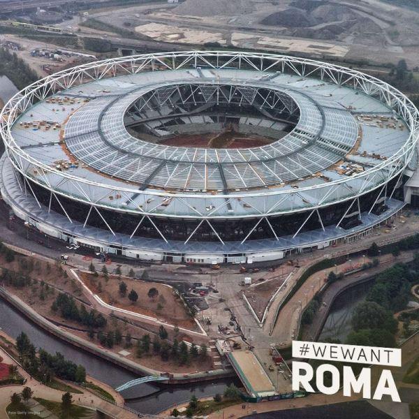 Vue aérienne du Stade Olympique de Londres après sa reconversion post-2012 (Crédits - Rome 2024)
