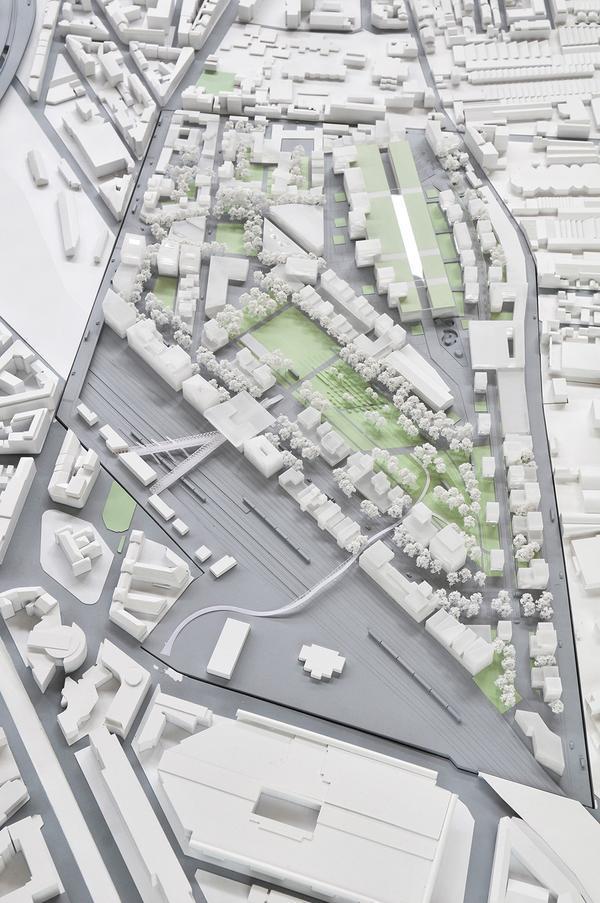 Maquette de l'emplacement prévu pour l'implantation du Village Olympique (Crédits – Ville de Pantin)
