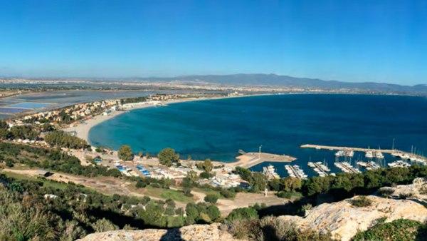 Vue de la baie de Cagliari (Crédits - Rome 2024)