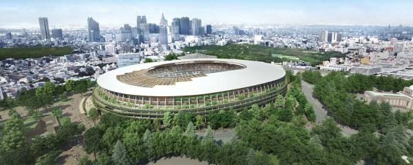 Le projet de Kengo Kuma (Crédits - Kengo Kuma / Japan Sport Council)