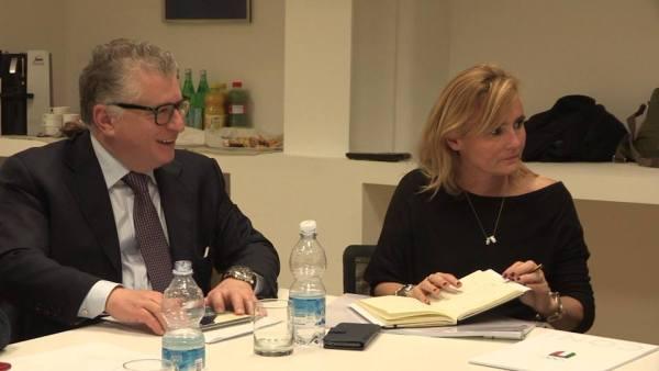 Giuseppe Novelli, Recteur de l'Université de Tor Vergata et Diana Bianchedi, Directrice Générale de Rome 2024 (Crédits - Rome 2024)