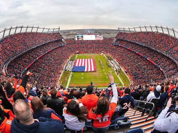 Vue du Sports Authority Stadium de Denver (Crédits - Denver Broncos)