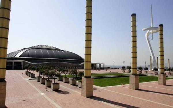 Vue panoramique de l'Esplanade Olympique et du Palau Sant Jordi (Crédits - Palau Sant Jordi)