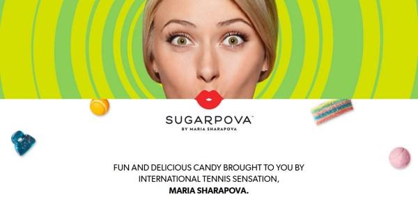"""Maria Sharapova dispose notamment d'une marque de bonbons sobrement nommée """"Sugarpova"""" (Crédits - Sugarpova)"""