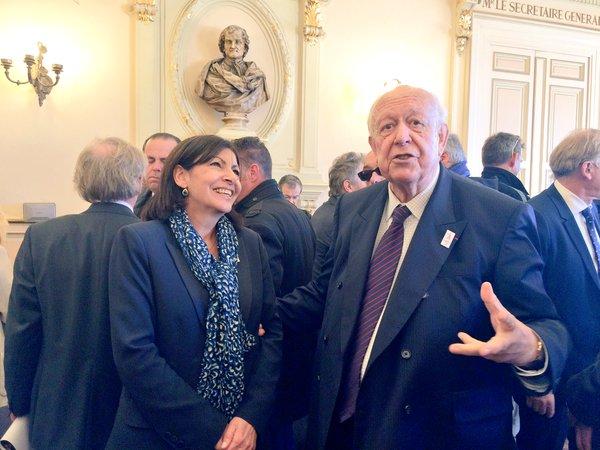 Anne Hidalgo et Jean-Claude Gaudin, le 25 avril 2016 (Crédits - Ville de Marseille)
