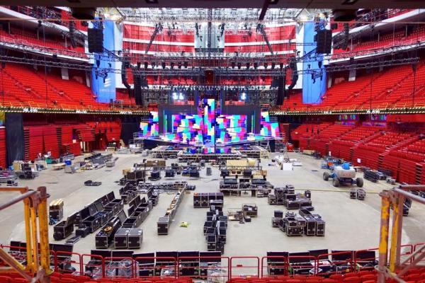 Installation de la scène pour le Concours Eurovision 2016 (Crédits - SVT Eurovision)