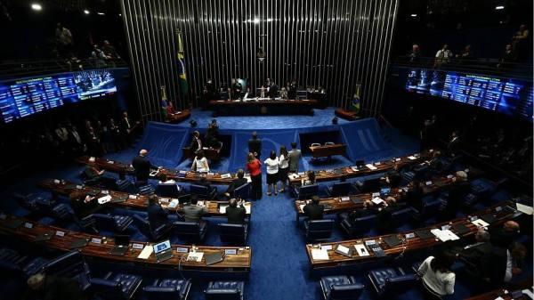 Vue intérieure du Sénat (Crédits - Wilton Junior / Estadão)