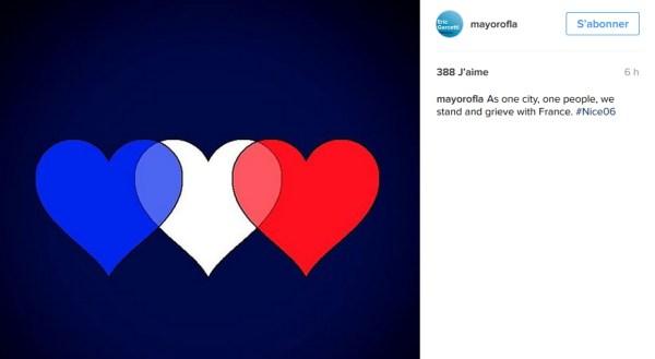 (Crédits - Maire de Los Angeles / Instagram)
