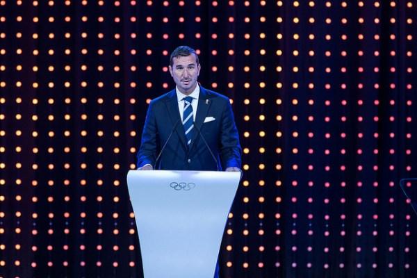 Alin Petrache fut l'un des partisans de la candidature de Brasov, pour l'organisation des Jeux Olympiques de la Jeunesse d'hiver 2020 (Crédits - CIO / Ian Jones)