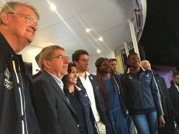 Thomas Bach, Président du CIO, à la découverte du projet français (Crédits - Paris 2024)