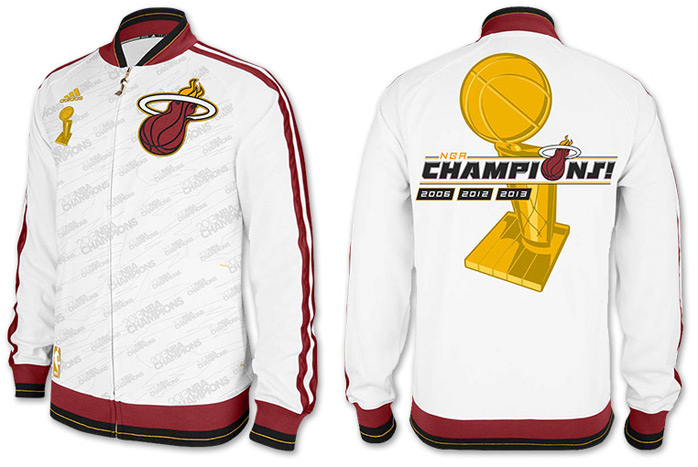 cheaper 927b7 bd815 adidas Miami Heat NBA Trophy Jacket