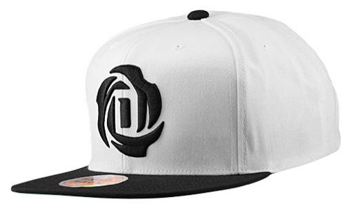 adidas D Rose Snapback Cap White Black  b62bc9d958b