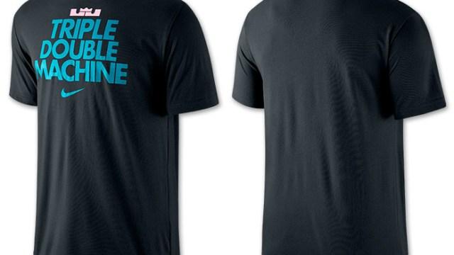 513bef62 Nike LeBron Triple Double Machine T-Shirt (Black/White/Turbo Green)