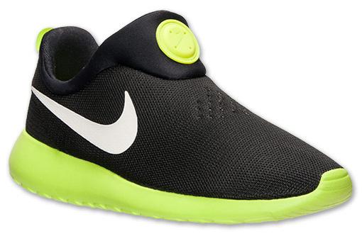 acff7a74244f Nike Roshe Run Slip On Black Volt