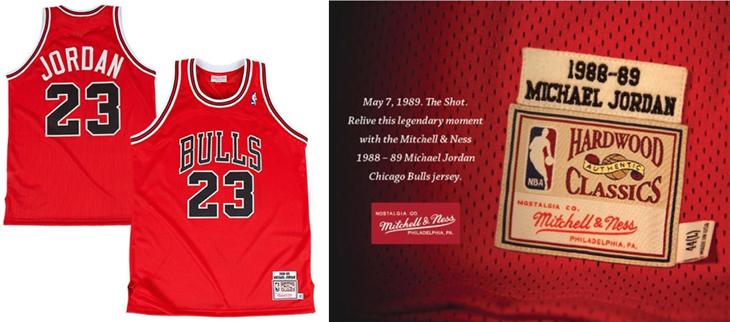 pretty nice 5d6d9 3f066 Mitchell & Ness Michael Jordan Chicago Bulls The Shot 1989 ...