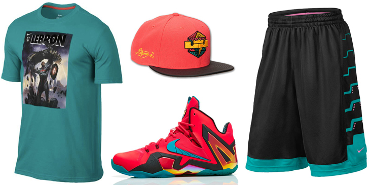 3f2562f696290 Nike LeBron 11 Elite Hero Clothing Shirts Shorts Hats