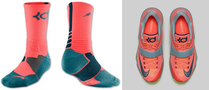 "sports shoes cf7c8 ba996 Nike KD 7 ""35,000 Degrees"" Socks"