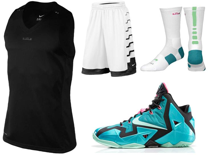 b8766f6620f Nike LeBron 11 South Beach Basketball Clothing